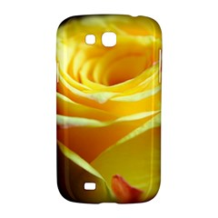 Yellow Rose Curling Samsung Galaxy Grand GT-I9128 Hardshell Case