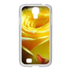 Yellow Rose Curling Samsung GALAXY S4 I9500/ I9505 Case (White)
