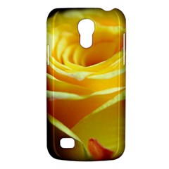 Yellow Rose Curling Samsung Galaxy S4 Mini (GT-I9190) Hardshell Case