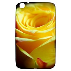 Yellow Rose Curling Samsung Galaxy Tab 3 (8 ) T3100 Hardshell Case