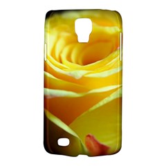 Yellow Rose Curling Samsung Galaxy S4 Active (I9295) Hardshell Case