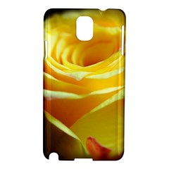 Yellow Rose Curling Samsung Galaxy Note 3 N9005 Hardshell Case