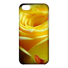 Yellow Rose Curling Apple iPhone 5C Hardshell Case