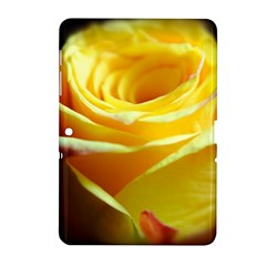 Yellow Rose Curling Samsung Galaxy Tab 2 (10 1 ) P5100 Hardshell Case