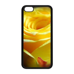 Yellow Rose Curling Apple iPhone 5C Seamless Case (Black)