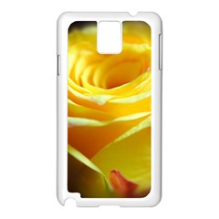 Yellow Rose Curling Samsung Galaxy Note 3 N9005 Case (white)