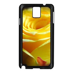 Yellow Rose Curling Samsung Galaxy Note 3 N9005 Case (black)