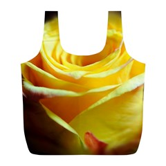 Yellow Rose Curling Reusable Bag (L)