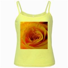 Yellow Rose Close Up Yellow Spaghetti Tank
