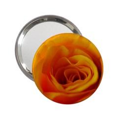 Yellow Rose Close Up Handbag Mirror (2.25 )