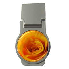 Yellow Rose Close Up Money Clip (Round)