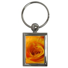 Yellow Rose Close Up Key Chain (Rectangle)