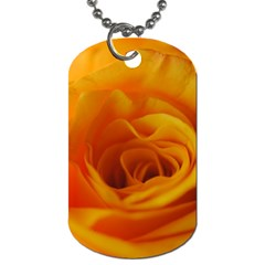 Yellow Rose Close Up Dog Tag (Two-sided)