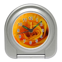 Yellow Rose Close Up Desk Alarm Clock
