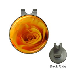 Yellow Rose Close Up Hat Clip with Golf Ball Marker