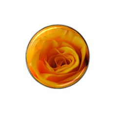 Yellow Rose Close Up Golf Ball Marker 4 Pack (for Hat Clip)