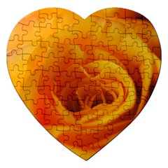 Yellow Rose Close Up Jigsaw Puzzle (Heart)