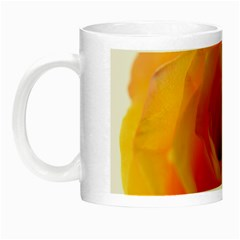 Yellow Rose Close Up Glow in the Dark Mug