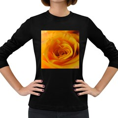 Yellow Rose Close Up Women s Long Sleeve T-shirt (Dark Colored)