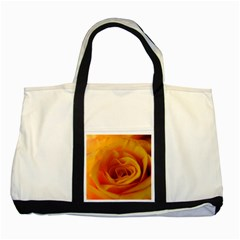 Yellow Rose Close Up Two Toned Tote Bag