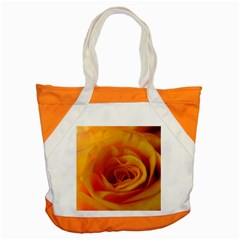 Yellow Rose Close Up Accent Tote Bag