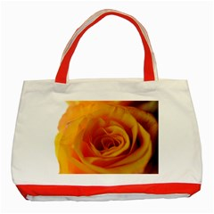 Yellow Rose Close Up Classic Tote Bag (red)