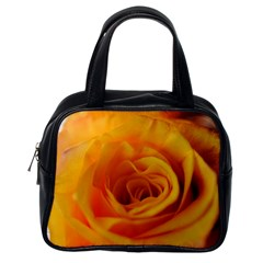 Yellow Rose Close Up Classic Handbag (One Side)