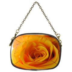Yellow Rose Close Up Chain Purse (two Sided)