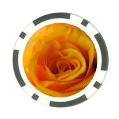 Yellow Rose Close Up Poker Chip (10 Pack)