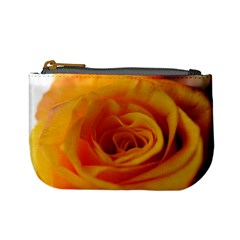 Yellow Rose Close Up Coin Change Purse
