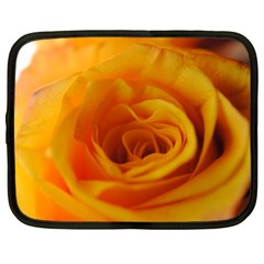 Yellow Rose Close Up Netbook Sleeve (xl)