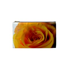Yellow Rose Close Up Cosmetic Bag (small)