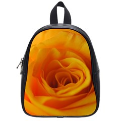 Yellow Rose Close Up School Bag (Small)