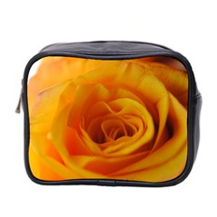 Yellow Rose Close Up Mini Travel Toiletry Bag (Two Sides)