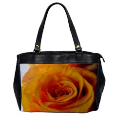 Yellow Rose Close Up Oversize Office Handbag (One Side)