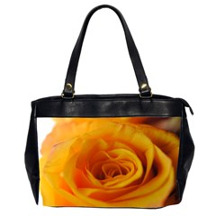 Yellow Rose Close Up Oversize Office Handbag (Two Sides)