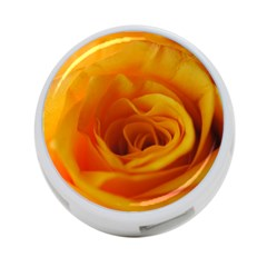 Yellow Rose Close Up 4-Port USB Hub (One Side)