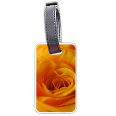 Yellow Rose Close Up Luggage Tag (One Side)