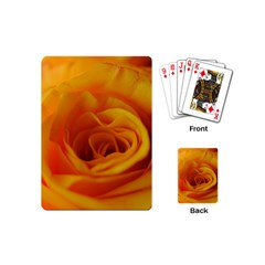Yellow Rose Close Up Playing Cards (mini)