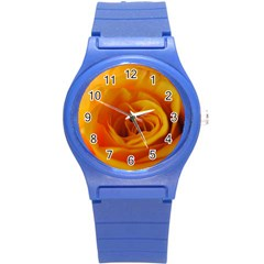Yellow Rose Close Up Plastic Sport Watch (Small)