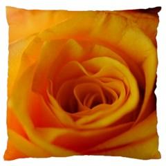Yellow Rose Close Up Large Cushion Case (Single Sided)