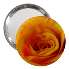 Yellow Rose Close Up 3  Handbag Mirror
