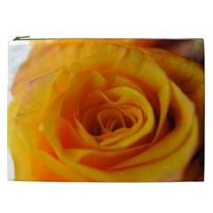 Yellow Rose Close Up Cosmetic Bag (xxl)