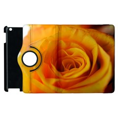 Yellow Rose Close Up Apple iPad 3/4 Flip 360 Case