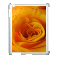 Yellow Rose Close Up Apple iPad 3/4 Case (White)