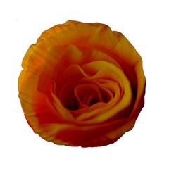 Yellow Rose Close Up 15  Premium Round Cushion