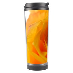 Yellow Rose Close Up Travel Tumbler