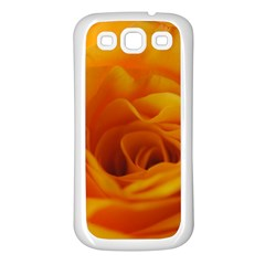 Yellow Rose Close Up Samsung Galaxy S3 Back Case (White)