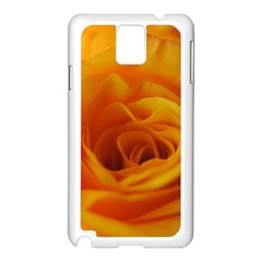 Yellow Rose Close Up Samsung Galaxy Note 3 N9005 Case (white)