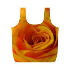 Yellow Rose Close Up Reusable Bag (m)